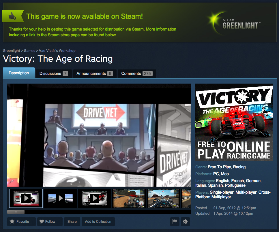 Victory on Steam? Oh yes.