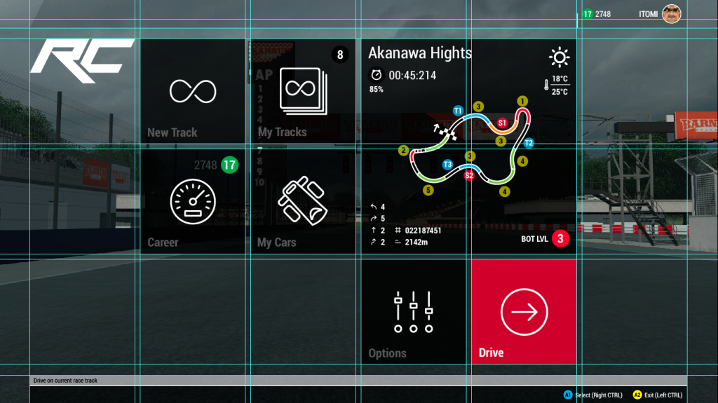 Racecraft UI Grid